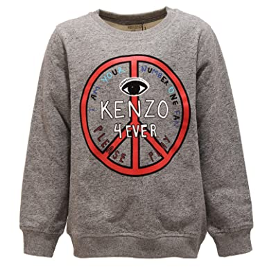 4fb6ddfbcdad Kenzo 2566V Felpa Bimbo Kids COLT Grey Cotton Sweatshirt Boy Kid  8 Years    Amazon.de  Bekleidung
