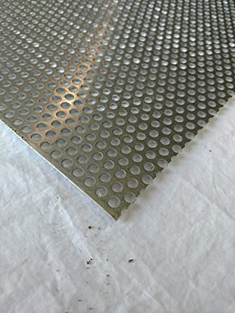 Amazon Com 1 4 Round Hole 12 X12 063 1 16 Thick Perforated Aluminum Sheet Type 3003 H14 Industrial Scientific
