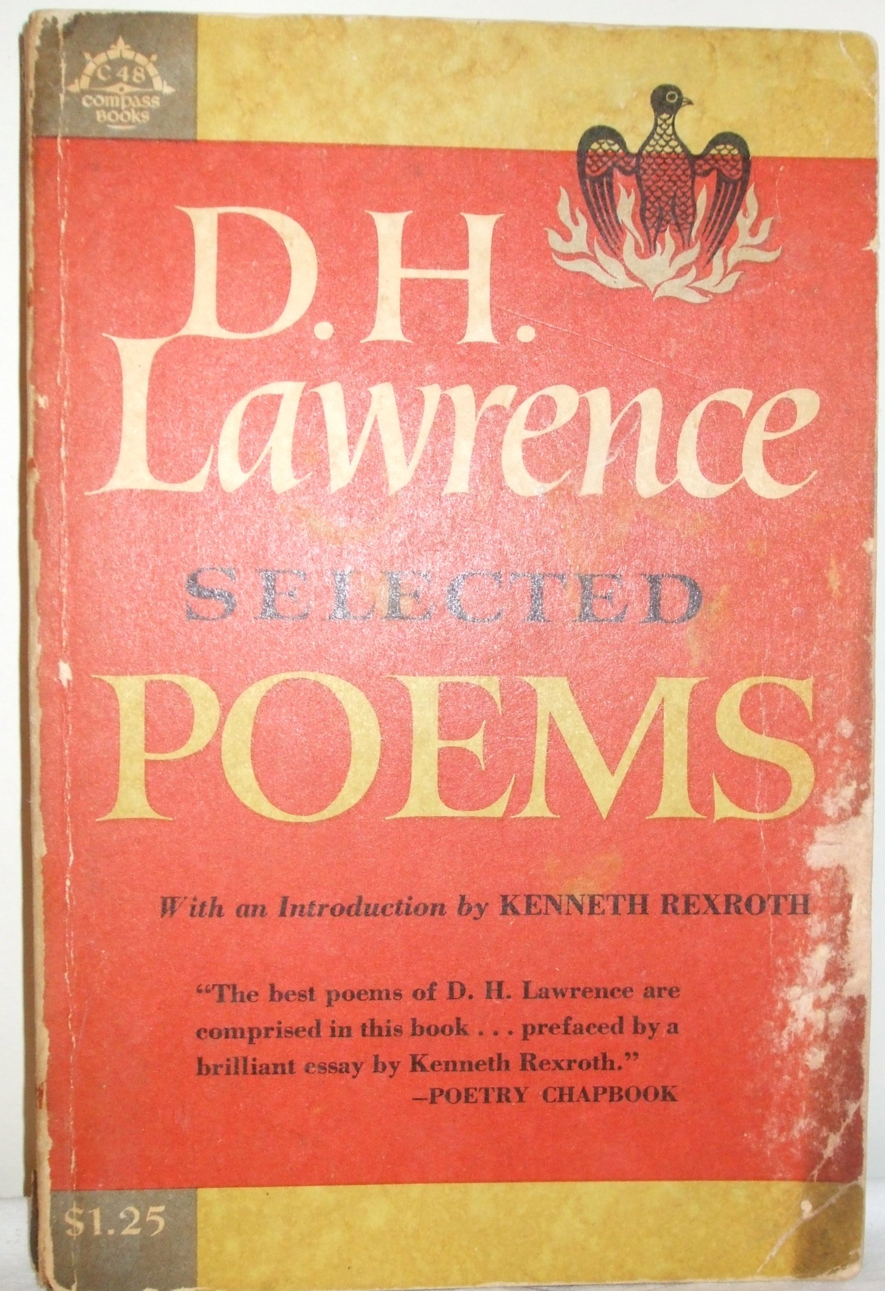 Selected Poems Of Dh Lawrence Amazones D H Lawrence