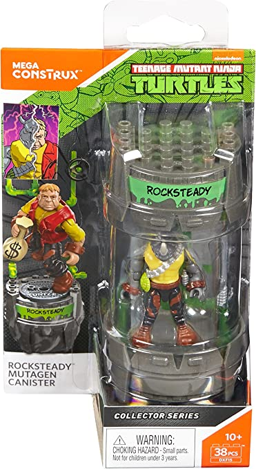 Mega Construx Teenage Mutant Ninja Turtles Classic Series Rocksteady Mutagen Canister