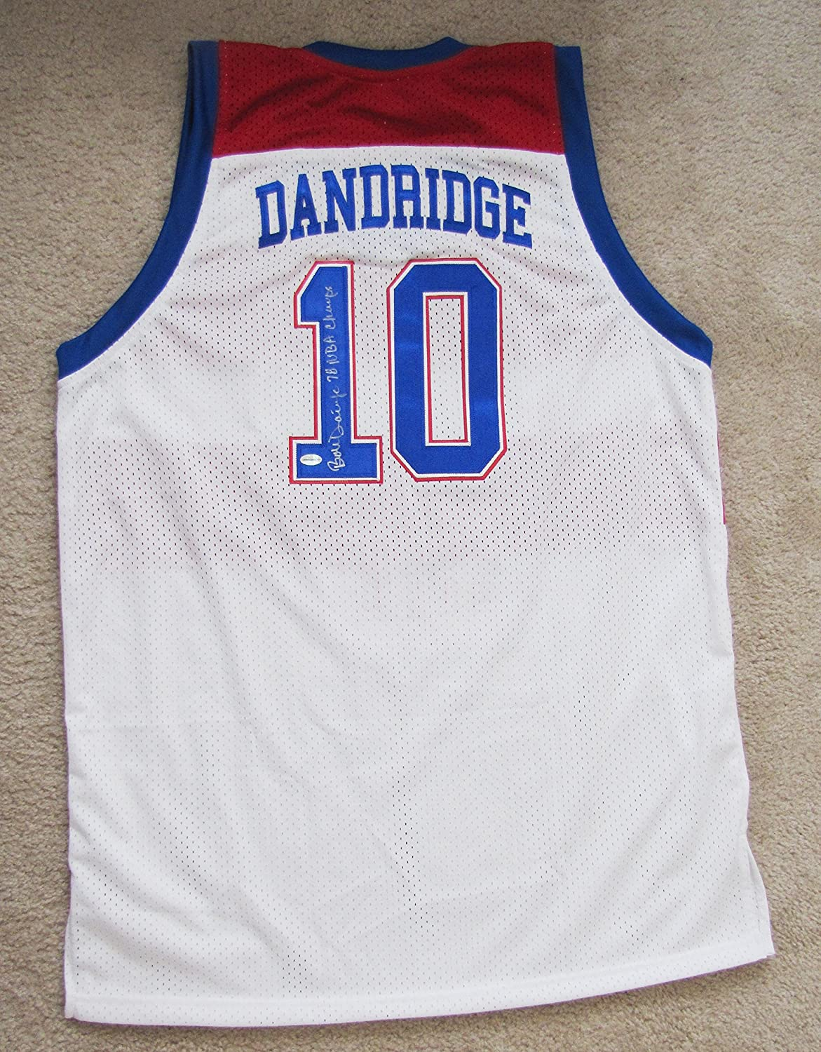 lowest price 861d5 74bf6 Bob Dandridge Autographed White Jersey - Washington Bullets ...