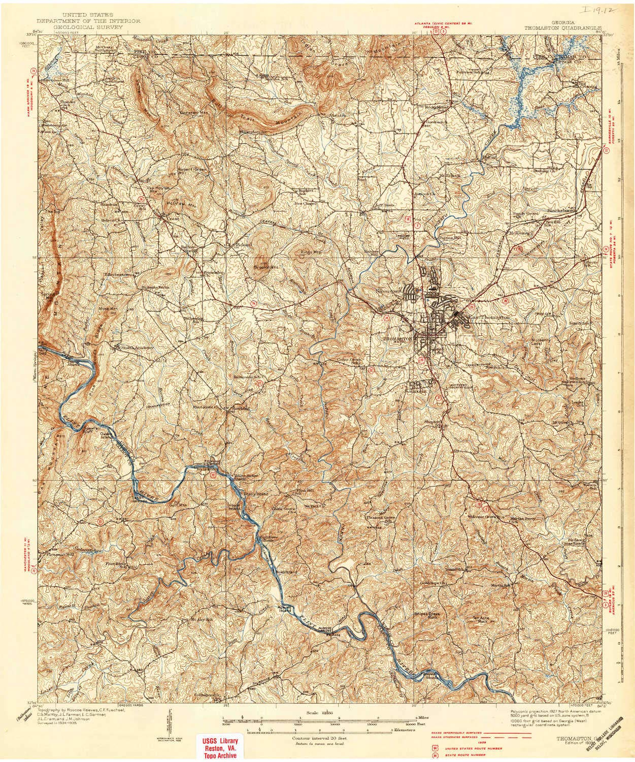 Amazon.com : YellowMaps Thomaston GA topo map, 1:62500 Scale, 15 X ...