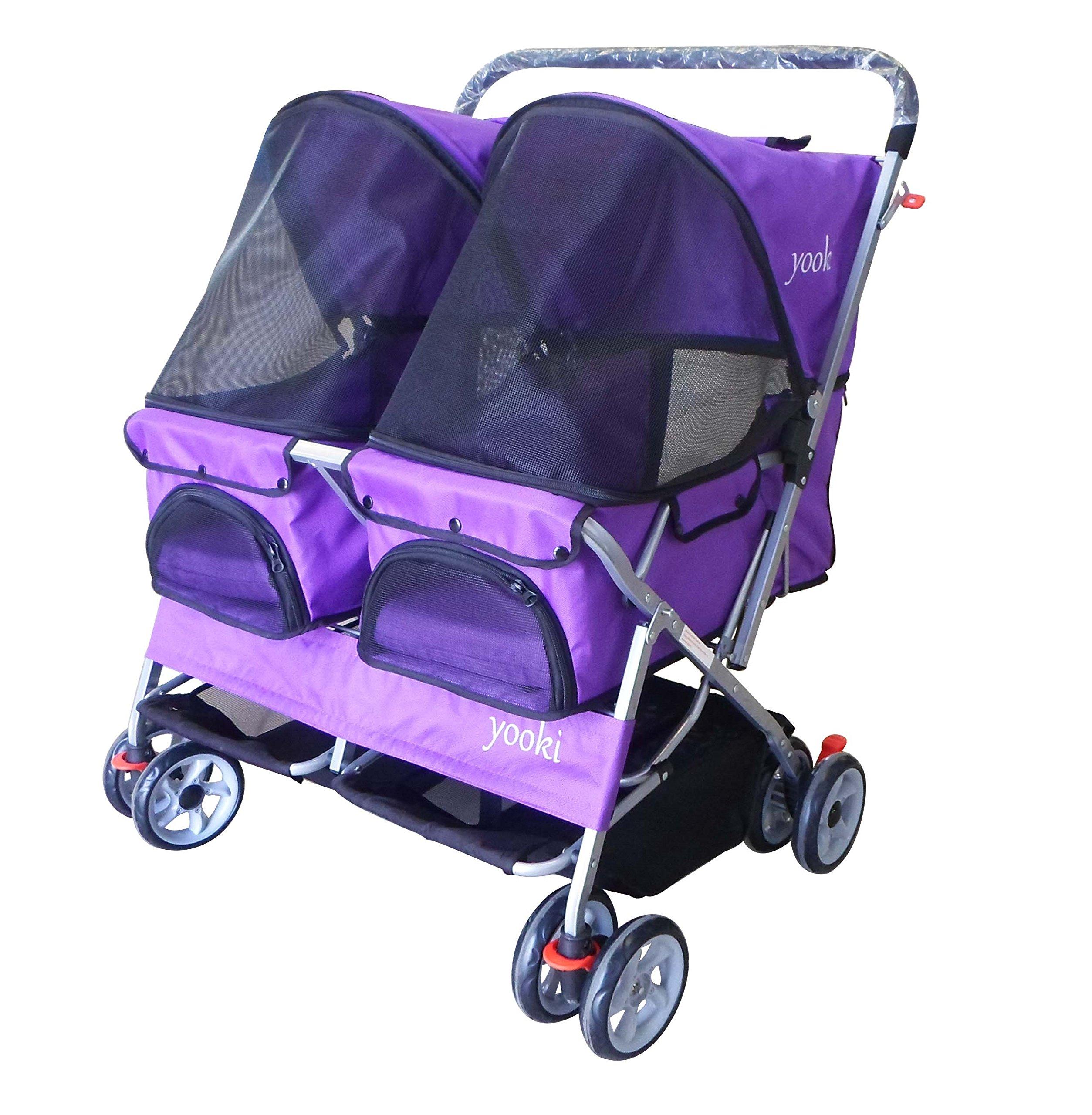 YOOKI SP-09PP Double Side Pet Stroller, Purple