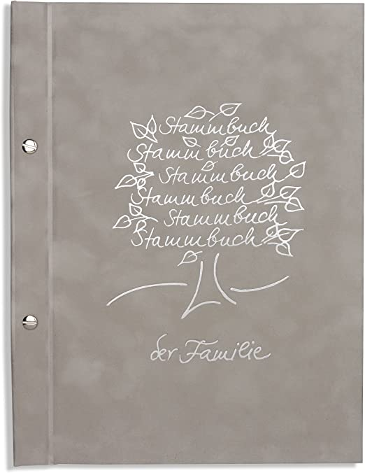 A4 SPB behördenverlag de la familia - Sanri -, no tejido, árbol genealógico plateada en relieve, con hojas, en libros, SPB behördenverlag, libro de familia, familias libro, libro: Amazon.es: Hogar