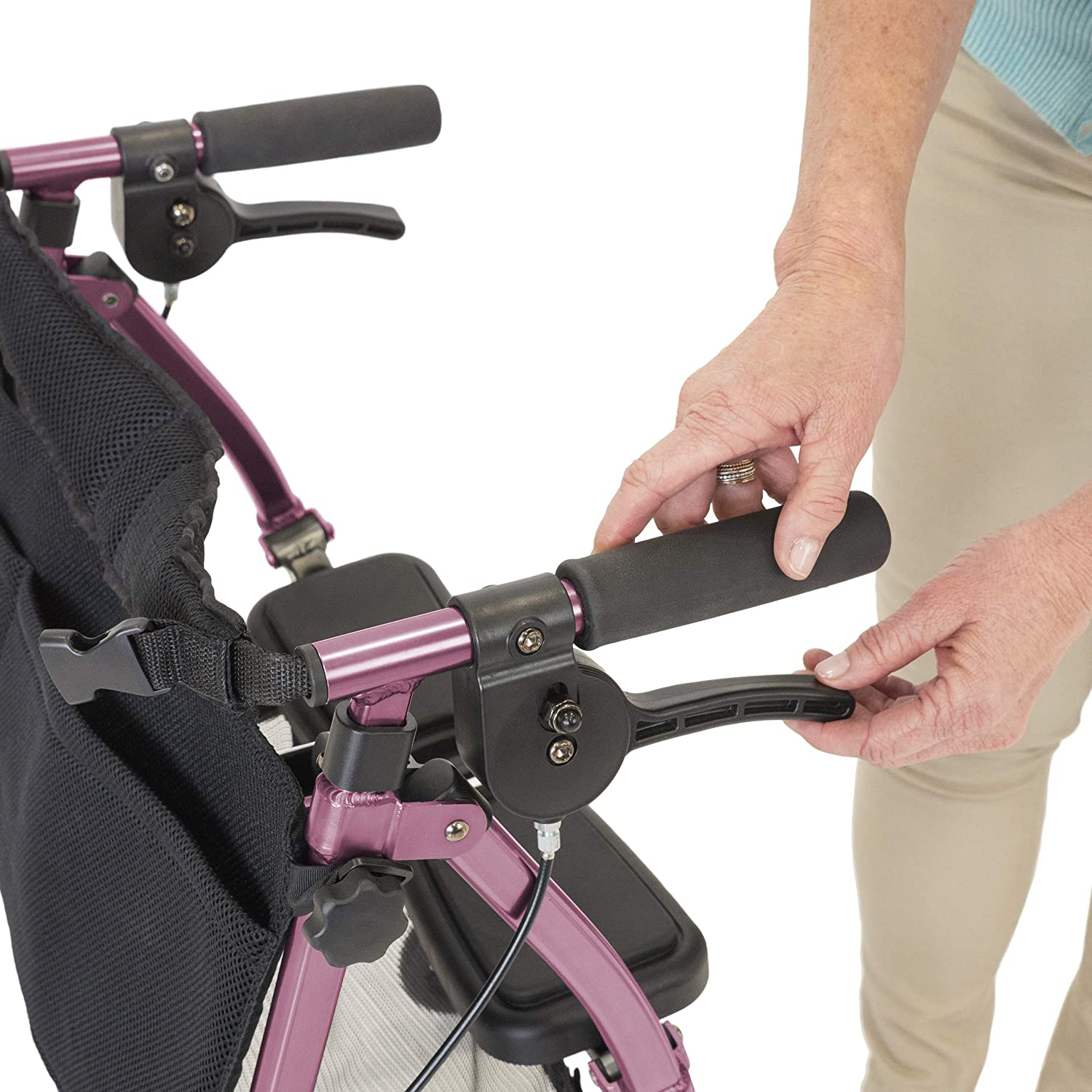 able EZ Fold-N-Go Rollator, Regal Rose: Amazon.es: Salud y ...