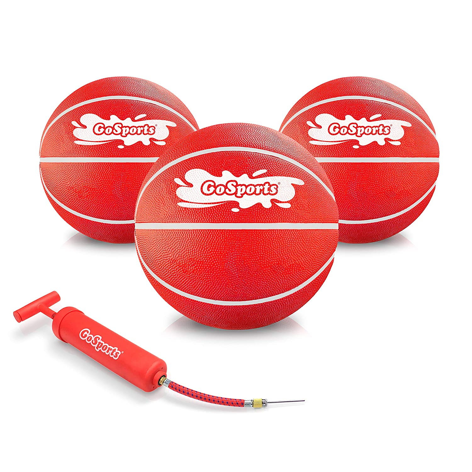 GoSports Swimming Pool Basketballs 3 Pack Great for Floating Water Basketball Hoops