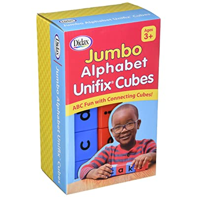 Didax Jumbo Alphabet Unifix Cubes, Set of 30: Toys & Games