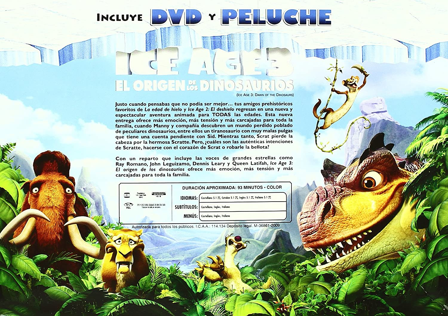 Amazon.com: Ice Age 3 + Peluche (Import Movie) (European Format - Zone 2) (2009) Personajes Animados; Carlos Saldanha;: Movies & TV