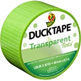 "Duck Brand 241425 Single Roll Transparent Tints Duct Tape, 1.88"" x 10 yd, Lime Green"