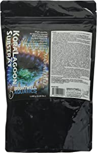 Brightwell Aquatics KoraLagoon Substrat - Aragonite-Based Refugium Substrate for Placement in Marine & Reef Aquariums, 1400g