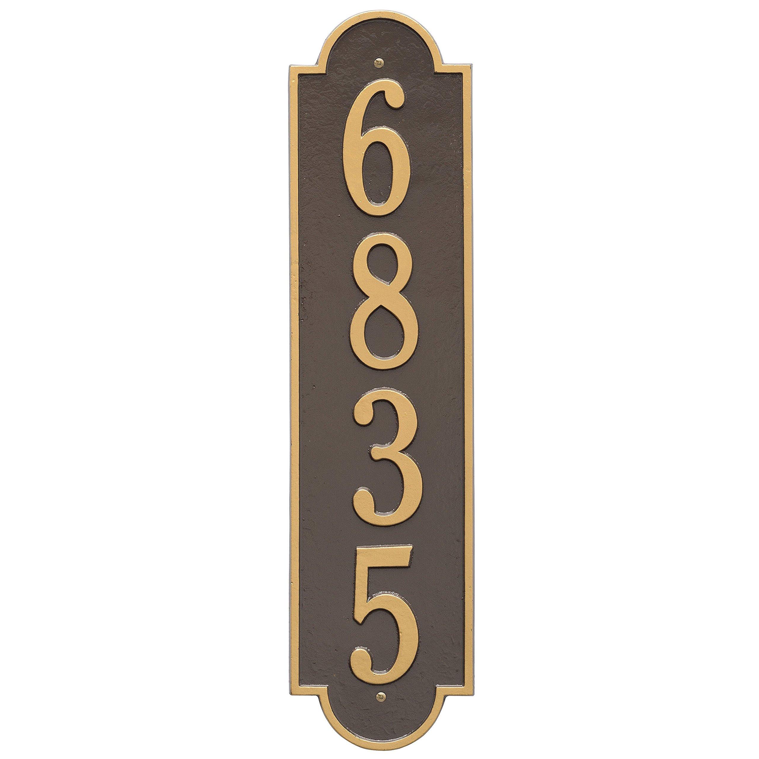 Custom Richmond Vertical Aluminum Address Plaque 6''W x 25''L (1 Line)