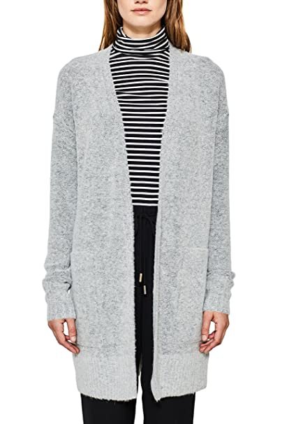 Esprit 097ee1i025, Chaqueta Punto Mujer, Gris (Light Grey 5 044), Small