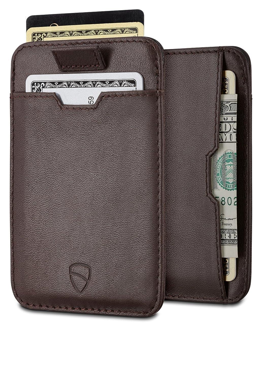 Vaultskin Chelsea ultra-slim leather card-protecting RFID wallet (Navy Blue) CWCH1N