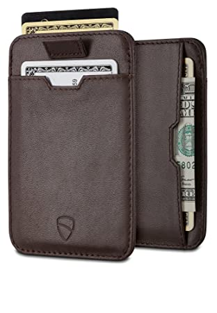 18841b2703b7 Chelsea Slim Card Sleeve Wallet with RFID Protection by Vaultskin - Top  Quality Italian Leather - Ultra Thin Card Holder Design For Up To 12 Cards  ...
