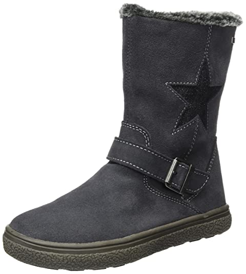 LurchiGudy-Tex - Botas Plisadas Niñas, Color Gris, Talla 39