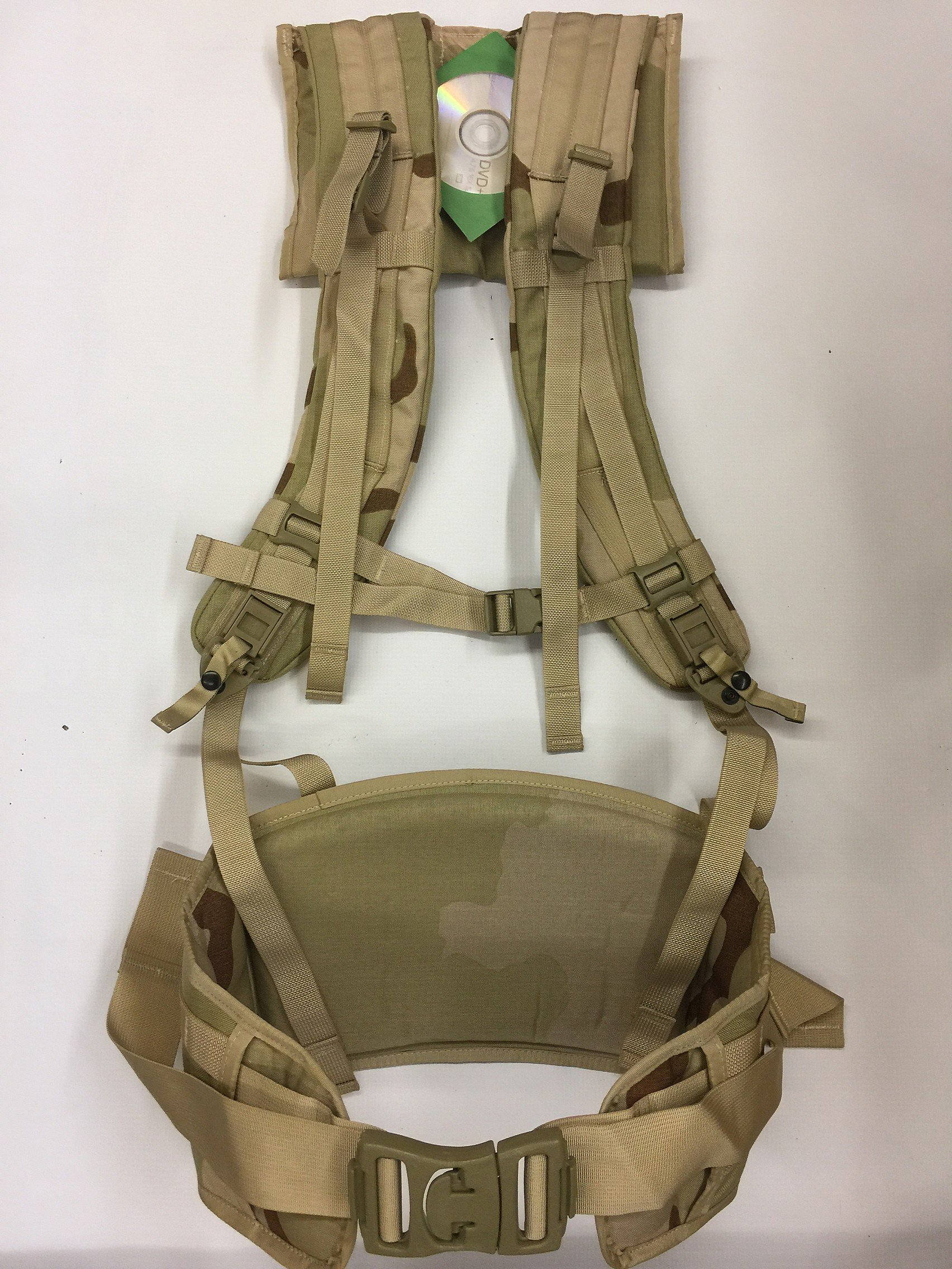 Molle Rifleman Desert Tan Frame Shoulder Straps Kidney Pad Belt Assembly GEN 4