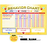 Shic Magnetic Dry Erase Behavior Chore Chart with Marker for Kids, 11-Inch x 17-Inch
