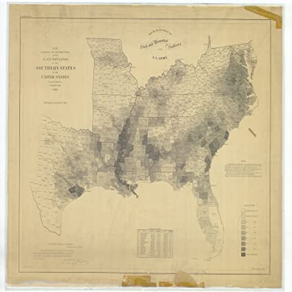 Amazon.com: 18 x 24 Canvas 1861 US old nautical map drawing chart of ...