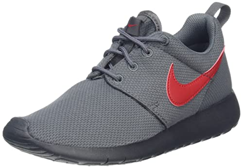 separation shoes d6d47 8a380 Nike Youth Roshe One (Dark Grey Red)(4 M US Big Kid