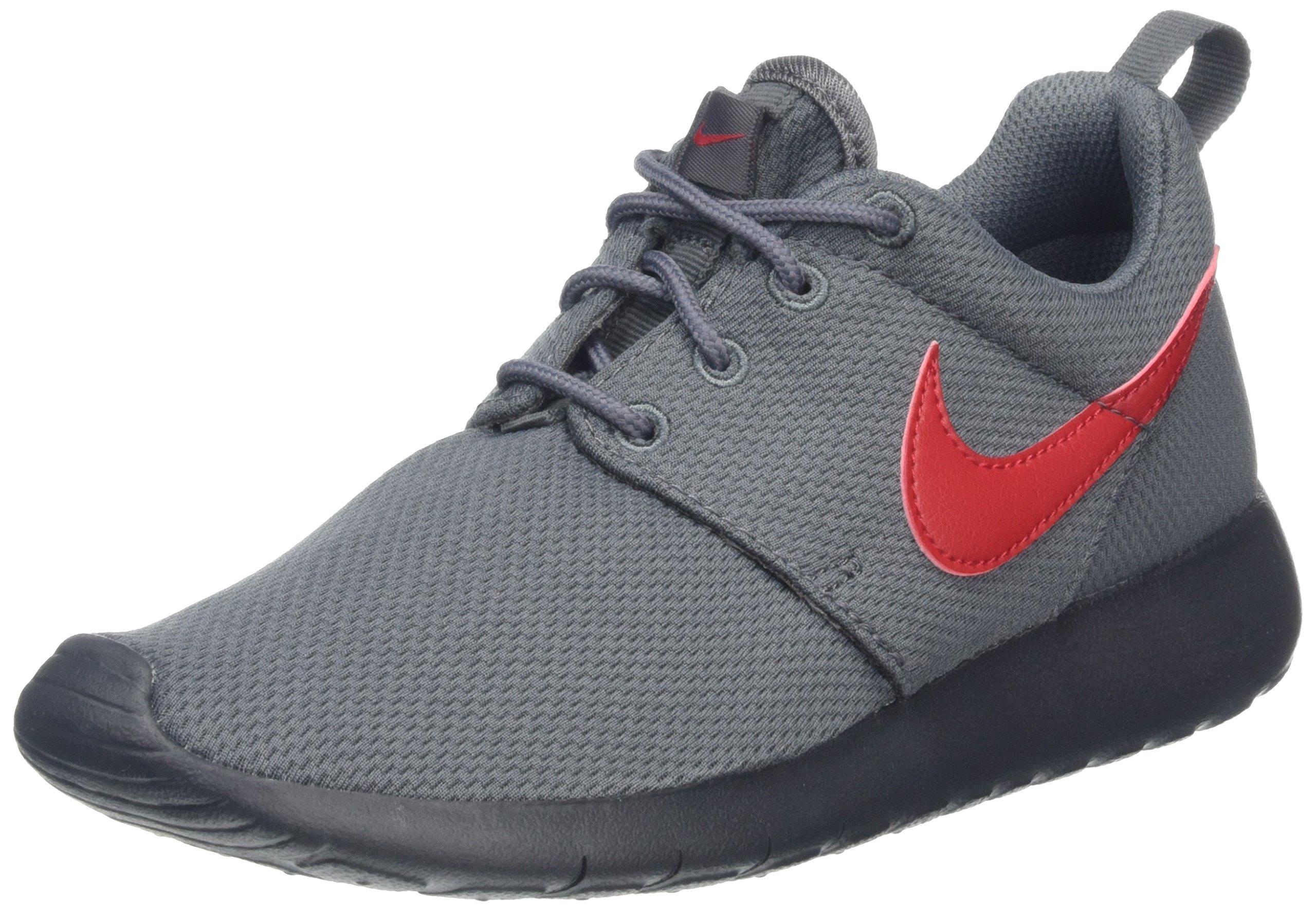 Nike Youth Roshe One (Dark Grey/Red)(6.5 M US Big Kid)