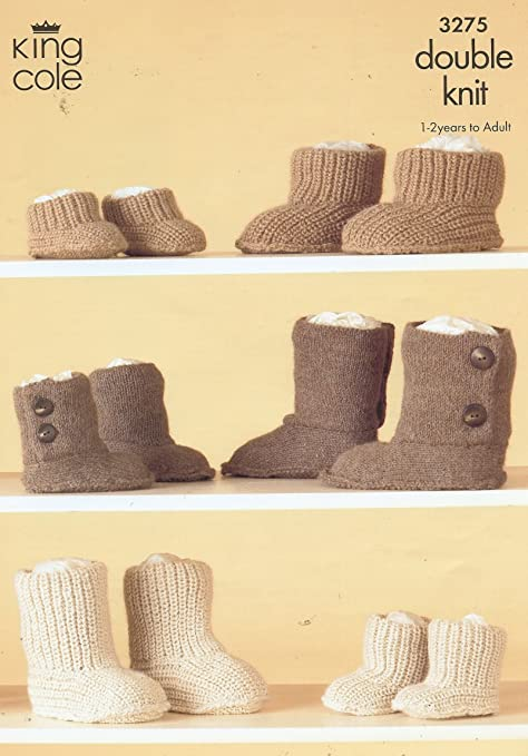 Ugg Boots Style Knitting Pattern Baby Adult 3275 Amazon