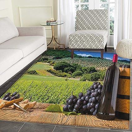 Amazon Wine Rug Kid Carpet Idyllic Tuscany Country Landscape