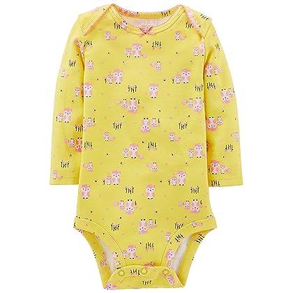 ... Simple Joys by Carter s Baby Girls 5-Pack Long-Sleeve Bodysuit 91b7297c1