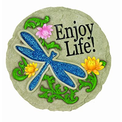 Spoontiques Dragonfly Stepping Stone : Outdoor Decorative Stones : Garden & Outdoor