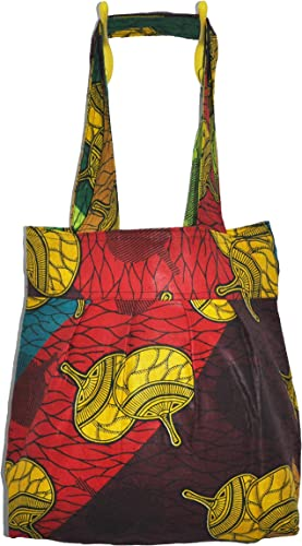 Reversible African Wax Print Reusable Shopping Tote