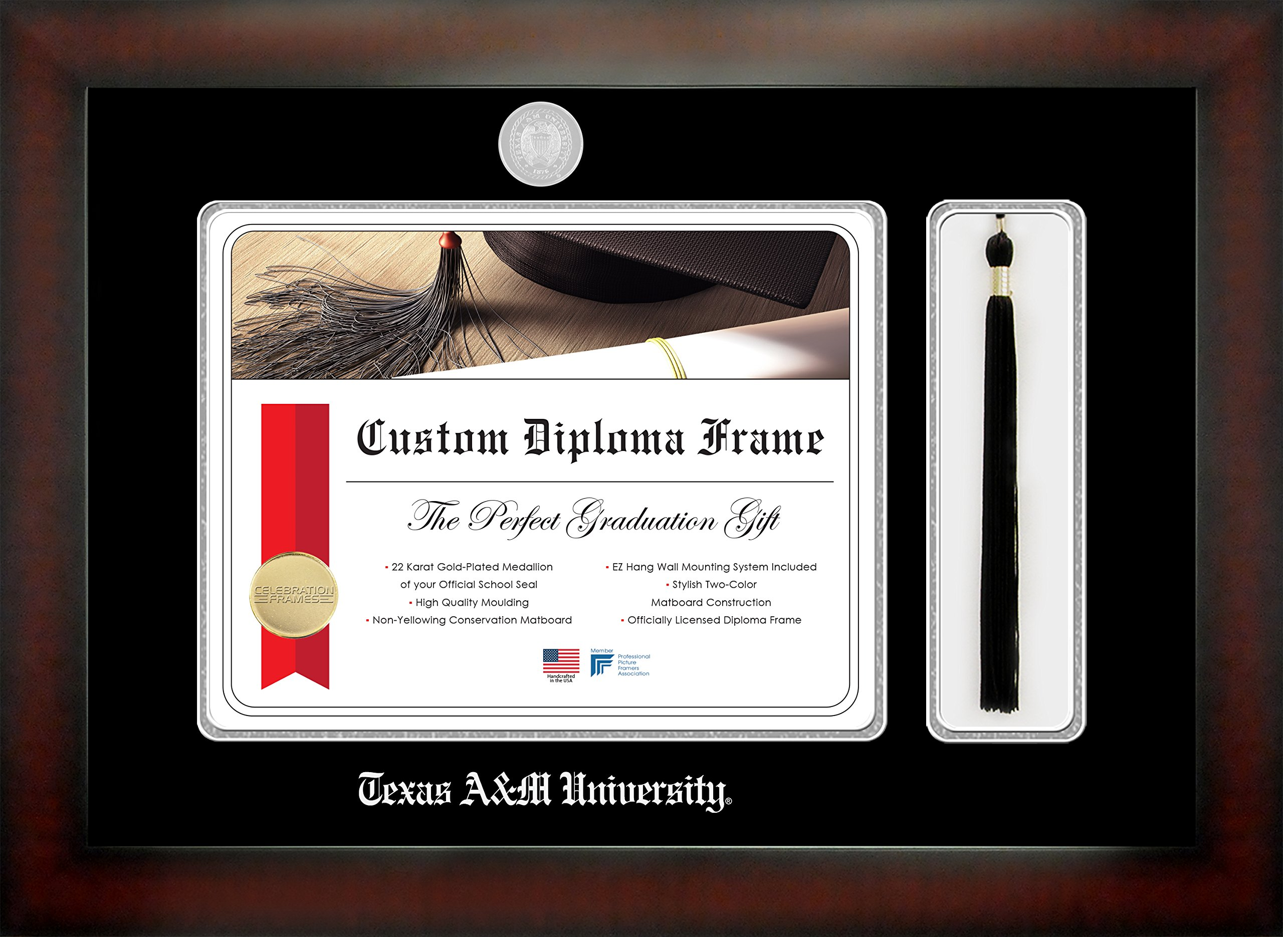 Celebration Frames Texas A&M University 12 x 16 Mahogany Finish ...