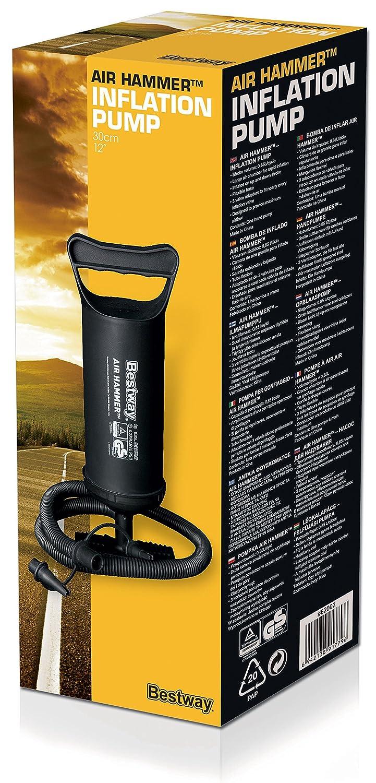 30 cm color negro Bestway 62002 Bomba de aire Hinchador Manual
