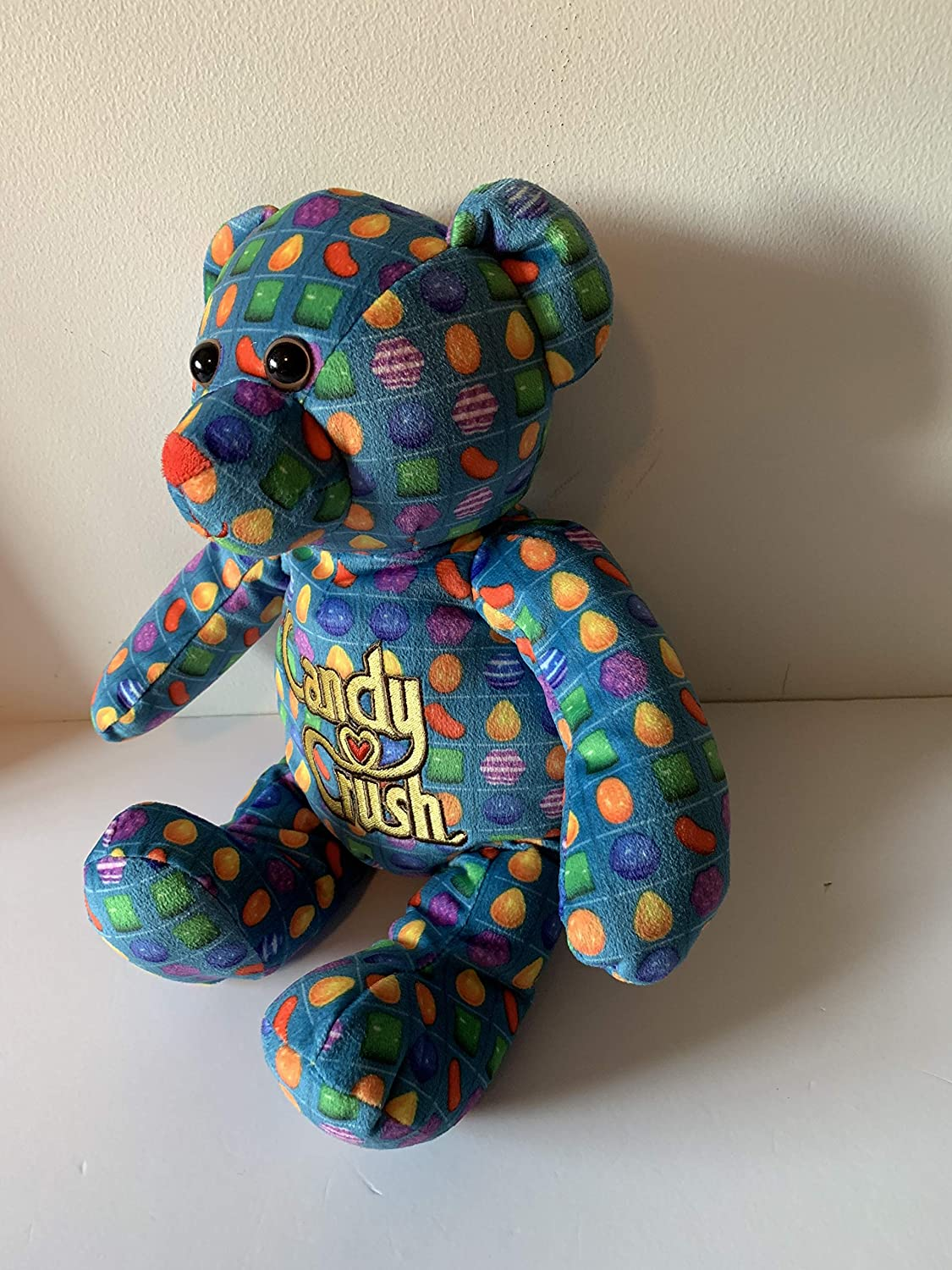 washable weighted buddy Candy Crush bear 3 lbs sensory toy Weighted stuffed animal