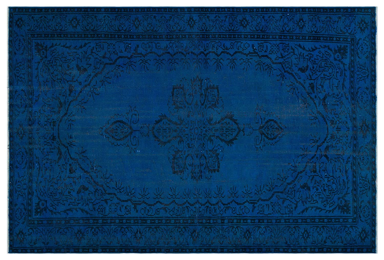 Bespoky ビンテージ 手織 ラグ 青 大きいサイズ 190 X 283 Cm   B07HKYS1TR