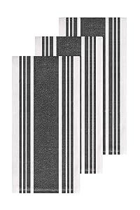 All-Clad Textiles 87114 Kitchen Towel, 3-Pack, Black