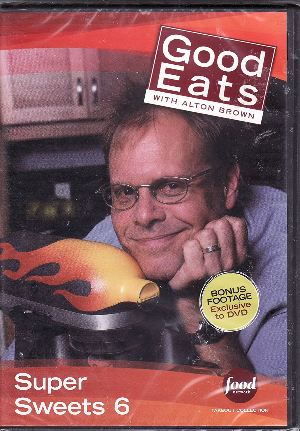 Food Network Takeout Collection DVD - Good Eats With Alton Brown - Super Sweets 6 Art of Darkness 3 / Deep Space Slime / Puddin Head Blues