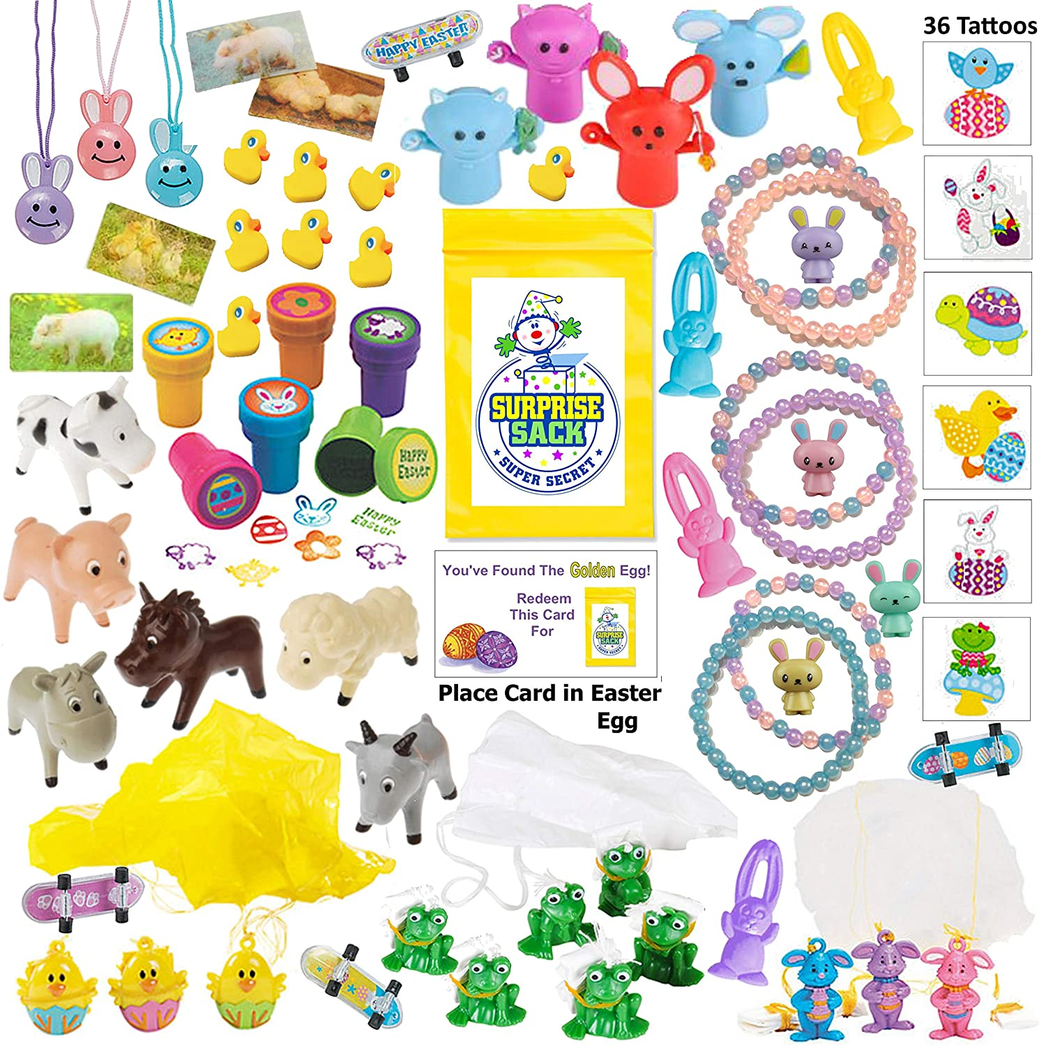 Amazon Com 110 Piece Easter Egg Filler Small Toy Assortment Of