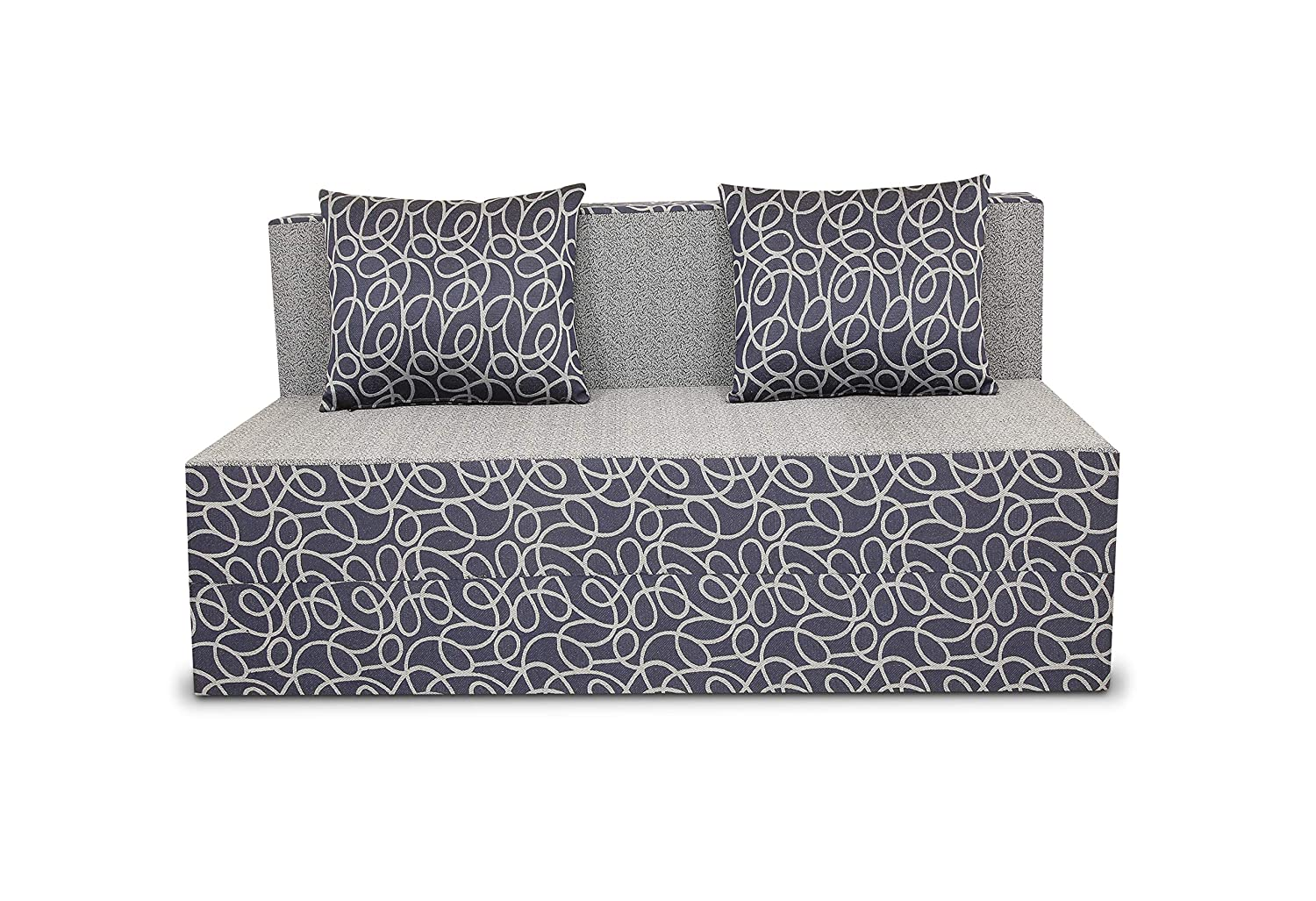 Adorn India Easy Two Seater Sofa Cum Bed Poly Cotton Brown