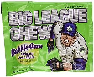Big League Chew Bubblegum, Apple, 12 Count