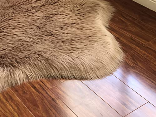LAMBZY Genuine Sheepskin Silky Area Rug