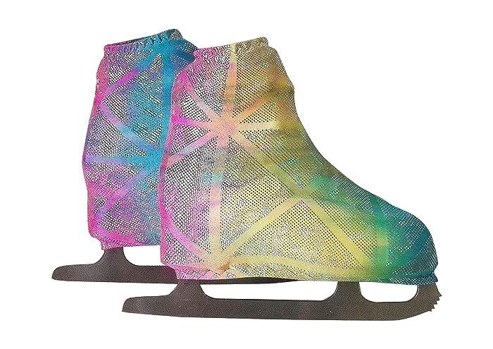 Funda Cubre patines para patinaje artistico sobre ruedas o sobre hielo, impresión DISCO