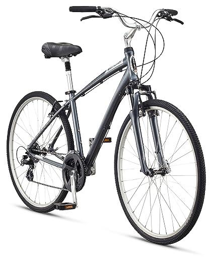 """88e6e840bf7 Schwinn Men's Voyager 1 700C Wheels Hybrid Bicycle, Charcoal, 16""""/Small"""