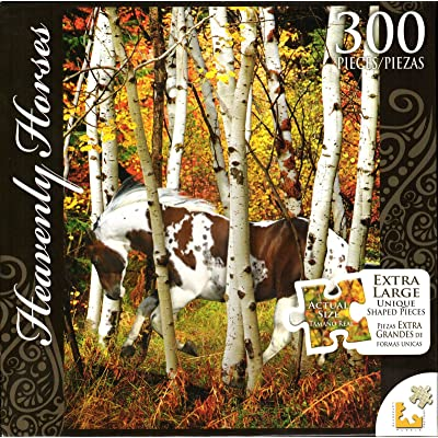 Heavenly Horses 300 Piece Puzzle - Hideaway Horse: Toys & Games