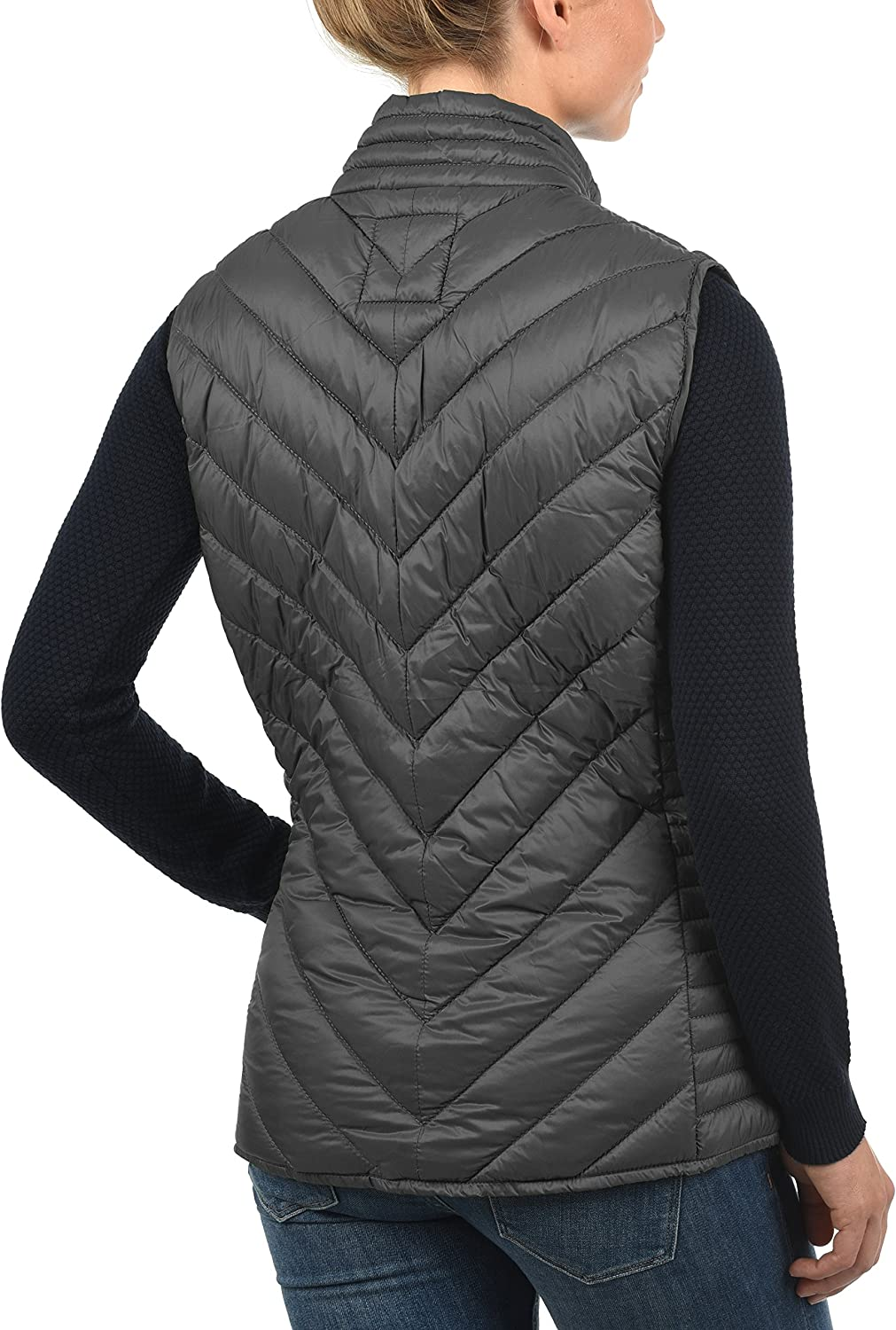 BlendShe Sadie Womens Quilted Gilet Vest Body Warmer with Funnel Neck