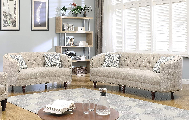 Amazon.com: Best Master Furniture Farah Contemporary Tufted Linen