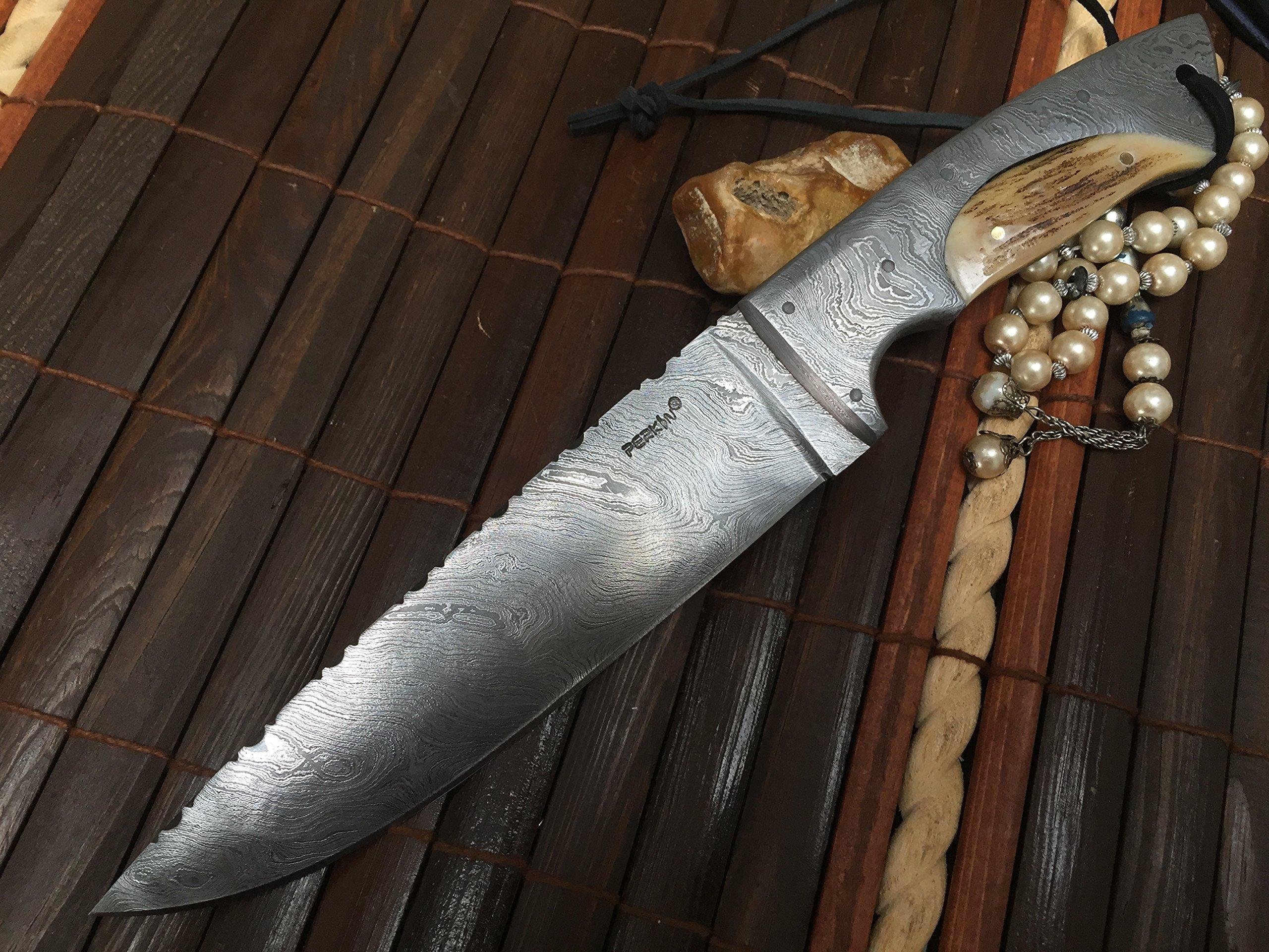 Outstanding Value - Handmade Damascus Hunting Knife - Full Tang - Work of Art