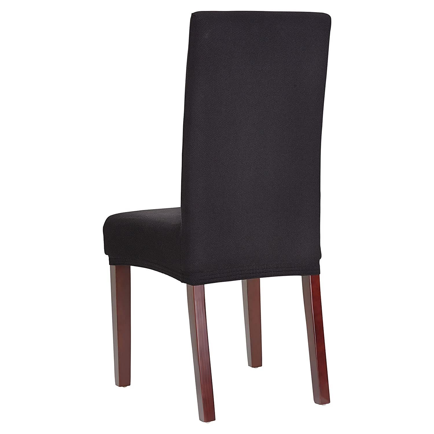 Bellboni dining chair covers, durable, high-quality dining chair covers made from strong fabrics, chair slip covers, stretch, two-way stretch covers to fit many sizes of dining chairs, 6 pack, black