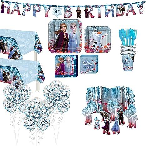 Amazon.com: Party City Frozen 2 suministros de vajilla para ...