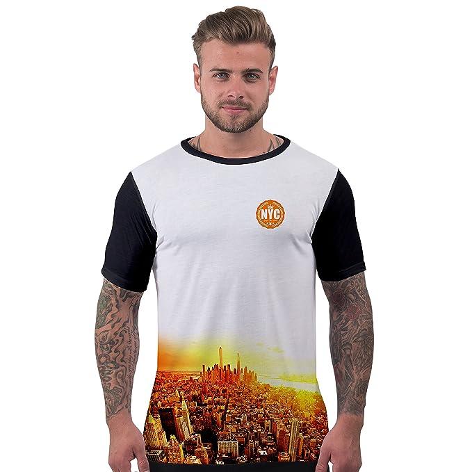 Bang Tidy Clothing Camisetas Totalmente Impresas por sublimación en 3D para Hombre con anochecer York: Amazon.es: Ropa y accesorios