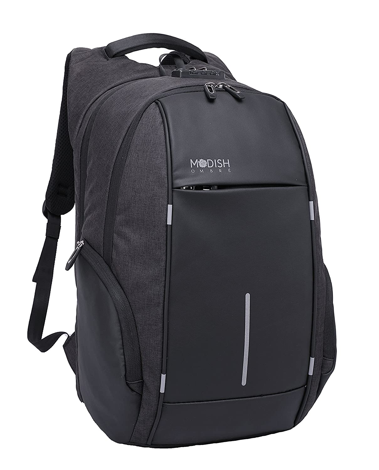 ModishOmbre Polyester Black Anti-Theft Laptop Backpack with TSA Lock ... 6875ba1acd106