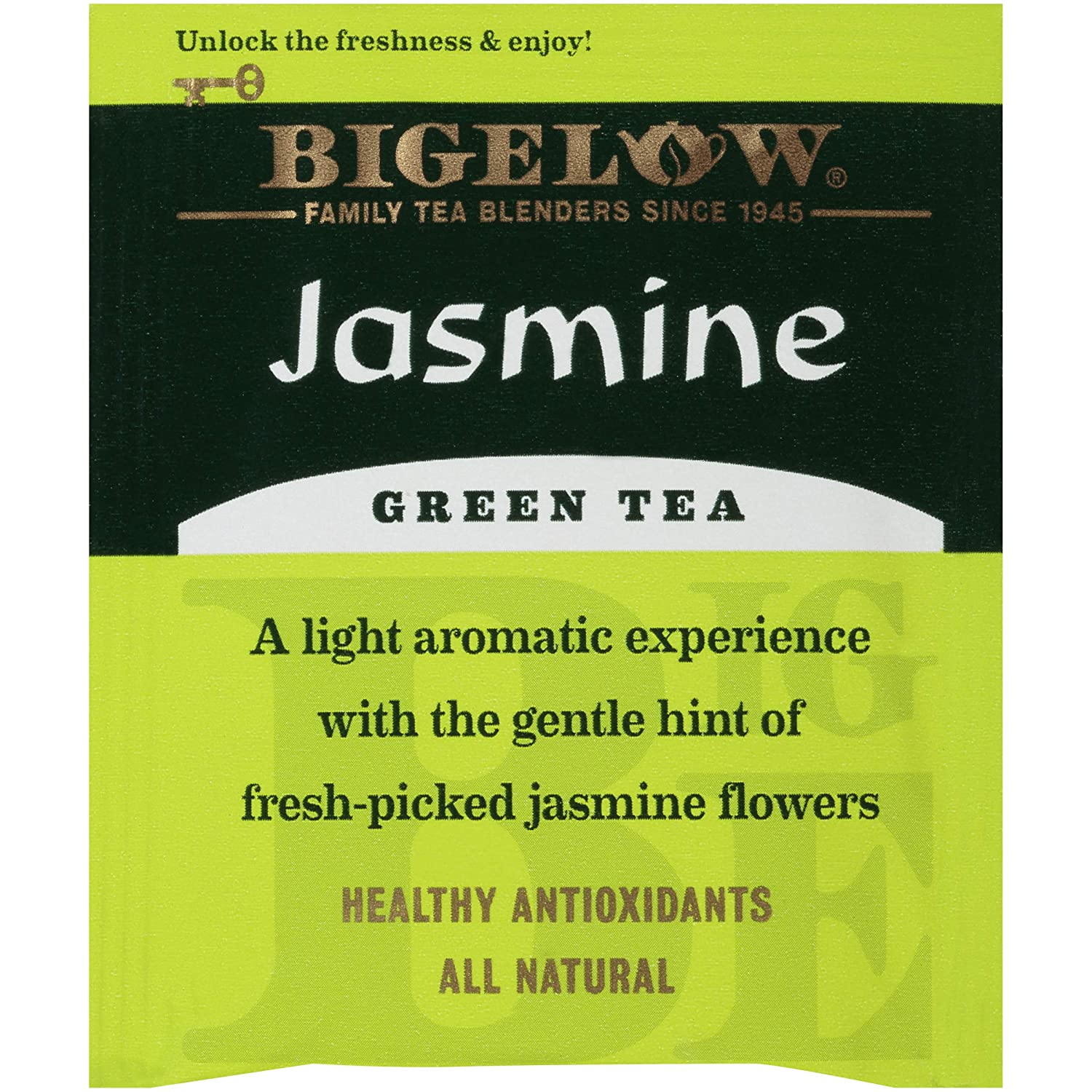 Bigelow Jasmine Green Tea Bags, 20 Count Box (Pack of 6) Caffeinated Green Tea, 120 Tea Bags Total